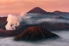 Mount Bromo (maison_2710) Tags: bromo landscape mountain outdoors nature travel scenics sky smoke morning erupting natural parkland adventure sunrise cloud indonesia