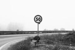 N (AliceFerretti) Tags: street bw blackandwhite people road ontheroad car chair art fog absoluteblackandwhite