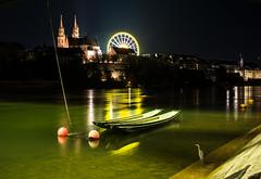 Basel, view over the river Rhine (gerdjandijk) Tags: basel switzerland swiss schweiz switserland zwitserland night bird river fluss