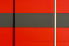 Pole and shadow (Jan van der Wolf) Tags: map196537v pole paal shadow black zwart red rood stripe streep geometric geometry geometrisch geometrie