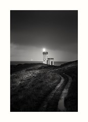 Showing the way (jamesdewar99) Tags: lighthouse scotland dark elie blackandwhite path light fife coast landscape atmosphere