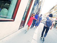 Dance Like Noone is Watching and Walk Like You're Dancing (kirstiecat) Tags: girl child france paris dreams nightmares street canon family dance walk beautiful europe