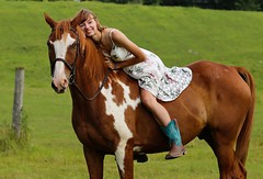 Summer Sun with Zoom (Scott RS) Tags: woman horse quarterhorse thoroughbred summer smile brown white peace love beauty pretty kind fun joy sweet delicate tender hot dress gorgeous canon6d canon135mm