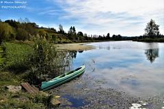 Duga Resa, Croatia - Autumn afternoon on river Mrežnica (Marin Stanišić Photography) Tags: croatia dugaresa karlovaccounty river mrežnica afternoon autumn boat colors nikon d5500