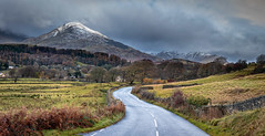 12th November 2019 (Rob Sutherland) Tags: lowick torver a5084 road hill fell mountain oldman coniston lakes lakeland lakedistrict natinoalpark snow winter dusting ldnp autumn england english britain british uk panorama panoramic landscape wall hedge village settlement farm farmland farming agriculture rural traditional dark brooding storm stormy
