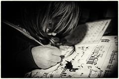 Hogwarts (Art de Lux) Tags: schreiben writing write feder feather tinte ink hand papier paper kind child kid konzentriert focussed schwarzweiss sw blackandwhite bw artdelux