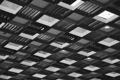 Ticking away the moments that make up a dull day.. (erlingraahede) Tags: pattern roof classic lines bedifferent poetic melancholic canon vsco blackandwhite monochrome bw holstebro
