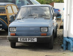 1988 Fiat 126 BIS (occama) Tags: e168psc 1988 fiat 126 bis blue old car cornwall uk italian polish small twin cylinder