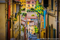 Palio di Siena (Ivo.Berta) Tags: italy italia europe siena town city color colors colour colours green yellow flag sign street history old palio 2019 architecture building amazing nice super