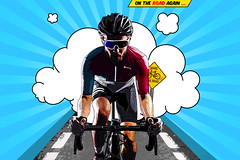 (m.renaudet) Tags: cartoon comics comicbook bike sport photoshop editing cycling popart graphism