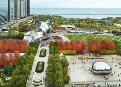 Millennium Park in Autumn (rjseg1) Tags: chicago autumn millenniumpark cloudgate gehry