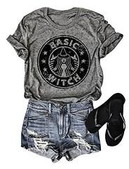 OUNAR Women Basic Witch Halloween T-Shirt Hocus Pocus Tshirt Coffee Tee Casual Graphic Top (Shopping Guide 7) Tags: basic casual coffee graphic halloween hocus ounar pocus tshirt tee top witch women
