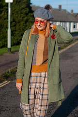 Pattern Mixing 101: Stripes and Checks in Winter | Not Dressed As Lamb, Over 40 Fashion and Style Blog (Not Dressed As Lamb) Tags: winter autumn fall aw19 fw19 outfit ootd fashion style blogger olive green khaki