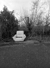 Presente (AliceFerretti) Tags: urbex people silence bw blackandwhite road outside art absoluteblackandwhite