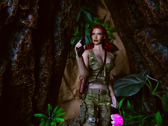 Through the cave. (Blondeactionman) Tags: bamhq agent of bam bianca one six scale doll phicen photography dinosaur valley diorama playscale