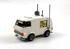 """Pizza Delivery"" van (timhenderson73) Tags: lego moc pizza delivery van police surveillance ideas contest"