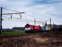 Crossrail/Xrail DE6310 met containertrein @ Ekeren (Avinash Chotkan) Tags: crossrail xrail de6310 class66 dieselpower containers ekeren belgium trains