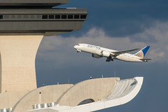 19-4645cr (George Hamlin) Tags: n26910 boeing 7878 virginia chantilly washington dulles international airport iad united airlines dramatic colorful clouds control tower sky stormy photodecor george hamlin photography