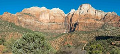 Morning View on Zion - Mt. Carmel Highway @ Zion National Park-06774 (gsegelken) Tags: usa utah zionnationalpark springdale panorama mountain zionmtcarmelhighway