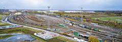 Basford Hall panorama (robmcrorie) Tags: class 86 66 crewe basford hall marshalling yard intermodal phantom 4 08691 86604 86612
