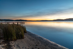 Soft and Gentle Sunrise over the Bay (Merrillie) Tags: daybreak woywoy landscape nature bay reflections foreshore newsouthwales highcloud earlymorning nsw brisbanewater australia sky morning coastal water outdoors waterscape sunrise centralcoast clouds dawn