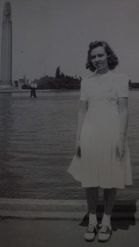 My Mom Posing at 1939 World's Fair?