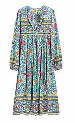 R.Vivimos Women's Long Sleeve Floral Print Retro V Neck Tassel Bohemian Midi Dresses (Shopping Guide 7) Tags: bohemian dresses floral long midi neck print retro sleeve tassel womens
