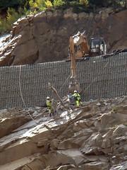 Region 5 - 2017.09.13_Drilling Rock Reinforcement (coloradodotphoto) Tags: region5 colorado cdot dot retainingwall safety danger hazard caution us 550