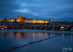 Prague (✦ Erdinc Ulas Photography ✦) Tags: landscape czech republic czechrepublic karlův most prague landmark europe travel historic panasoniclumix city bridge charlesbridge bluehour night blue lumixgvario1260f3556