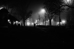 If this were a horror film I should be running by now. (ewitsoe) Tags: atmosphere autumn city fog mgla moody morning street warszawa erikwitsoe night poland urban warsaw bnw blackandwhite eerie haunted ghost creepy mono monochrome horror