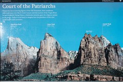 Zion National Park-06751 (gsegelken) Tags: courtofthepatriarchs gary lorrie patty springdale usa utah zionnationalpark sign
