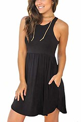 Unbranded Women's Sleeveless Loose Plain Dresses Casual Short Dress with Pockets (Shopping Guide 7) Tags: casual dress dresses loose plain pockets short sleeveless unbranded with womens