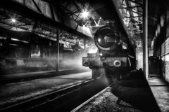 Challenging Lighting Conditions (photofitzp) Tags: 5900 blackandwhite didcotrailwaycentre gwr hindertonhallbw railways timelineevents