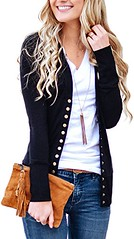 NENONA Women's V-Neck Button Down Knitwear Long Sleeve Soft Basic Knit Cardigan Sweater (Shopping Guide 7) Tags: basic button cardigan down knit knitwear long nenona sleeve soft sweater vneck womens