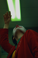 #ProjectNeverland: #Joker (TheJennire) Tags: photography fotografia foto photo canon colours colores cores film cinema joker arthurfleck toddphillips joaquinphoenix 2019 toronto canada ootd outfit makeup clown conceptualphotography art night 50mm portrait bathroom dance dancing