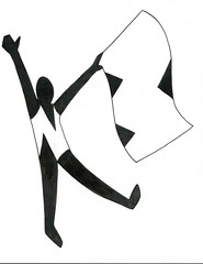 Personal logo (Kaylin Mathein) Tags: colorguard color guard logo initials flag