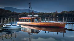 Still Life (mandyhedley) Tags: travel reflections holidays grasmere lakedistrict cumbria boattrip cruiser lakewindermere windermere bowes rydalwater landscape lakeside waterscape