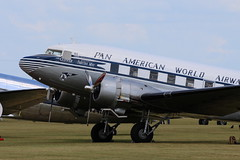 2019-06-03; 0182. Douglas C-47B (1945), NC33611 'Clipper Tabitha May'. Daks over Normandy, Duxford. (Martin Geldermans; treinen, Züge, trains, vliegtu) Tags: dc3 douglasc47 douglasdc3 c47 dakota heritageplane historischvliegtuig historischeflugzeuge museumvliegtuig wwiiplane propellor daksovernormandy duxford imperialwarmuseum