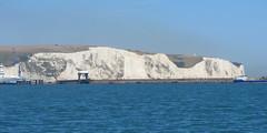 The White Cliffs of Dover Seen From The Sea, England (alexdavidwriter) Tags: dover kent england britain uk whitecliffsofdover cliffs chalk nature coast sea veralynn landscape seascape