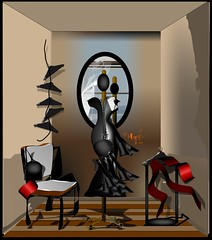 Terminado (Amparo Higón) Tags: surrelismo maniquí vestido cremallera bolso silla galándenoche espejo perchas surrealism manikin handbag zip clotheshanger mirror artwork modernekunst kunst artemoderno digitalart digitalpainting vectorpainting amparohigón