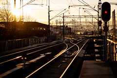 Uppsala, November 4, 2019 (Ulf Bodin) Tags: trainstation urbanlife sverige uppsalapendeln canonrf85mmf12lusm uppsala train tracks streetphotography outdoor sweden canoneosr uppsalacentralstation uppsalaresecentrum uppsalalän