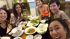 Dinner with Japanese friends before going to Salsa party in Phnom Penh. Cambodia  Oct 2019 #itravelanddance