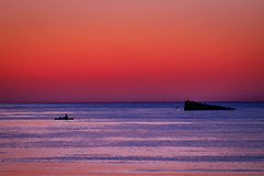 After Sunset (lablue100) Tags: sunset aftersunset colors sea water fall rocks fishing beauty nature landscapes peaceful