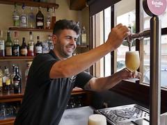 Estrella Damm: a local beer at a locals' bar. Sitges. 10 October 2019 - P1090153M (rob.boler) Tags: spain espana catalonia sitges estrelladamm beer bar
