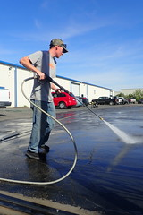 Pressure Washing Parking Lot