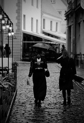 Towards the sabbath (fromfarbeyond) Tags: pentax spotmatic ilford delta 3200 35mm film analog photography riga street september rain