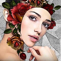 double exposition-masque (JadeJade441) Tags: doubleexposition masque fleurs création photomanipulation compo