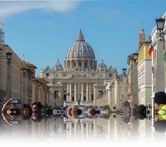 avenida de la conciliación (lauracastillo5) Tags: avenue vatican city cityscape street architecture selfie tourism travel people rome sky