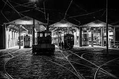 Back at the Sheds #2 (gavsidey) Tags: crich tramway tram museum rails street sheds ngc d500 derbyshire starlite event night photography