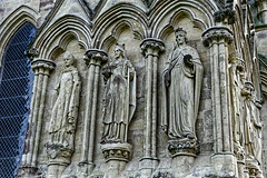 Wall Saints (Croydon Clicker) Tags: cathedral church pillars carving masonry salisbury wiltshire nikon nikkor statue saint